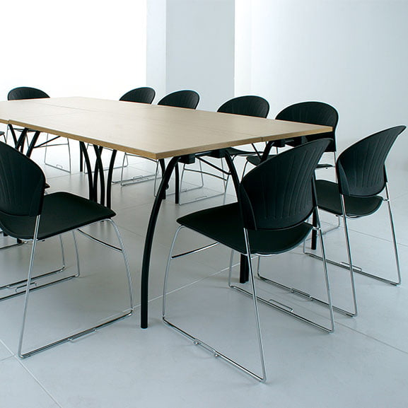 Black Meeting Chairs and Telford Meeting Table