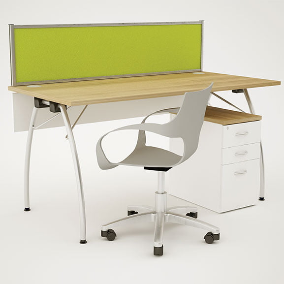 Telford folding Table shown with and office chair
