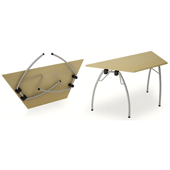 Top and back of Telford Folding tables