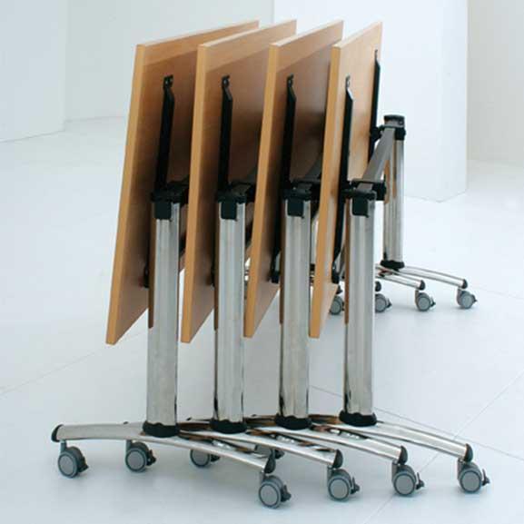 Gresham Telford Tilt Top Table shown folded