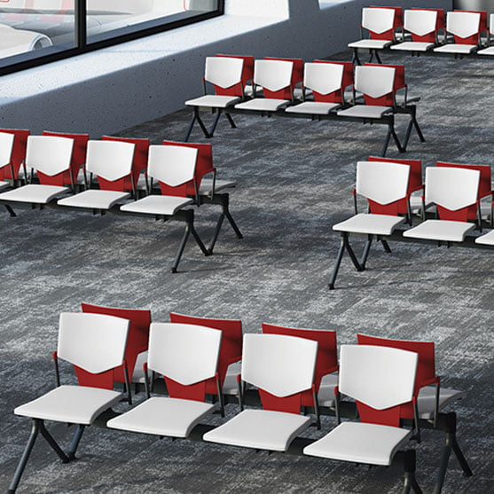 Ikon Beam Seating in read and white