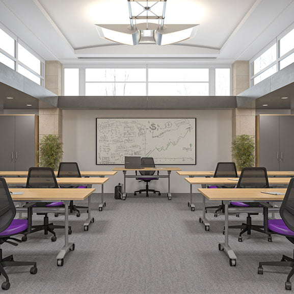 Imperial Reunion Tilt Top Table shown in an office