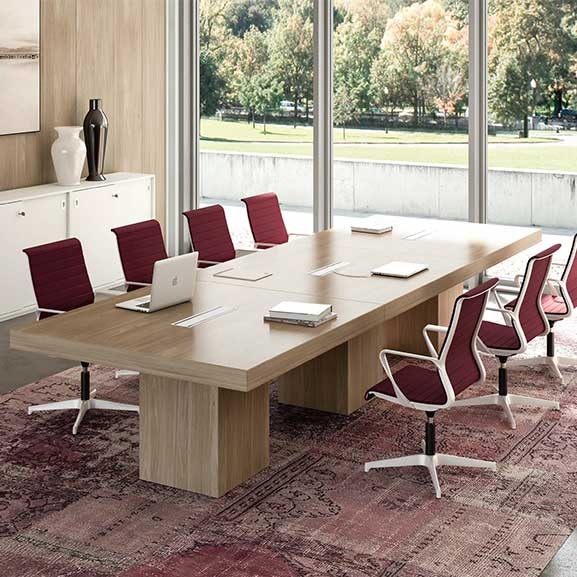 T45 Wood Meeting Table
