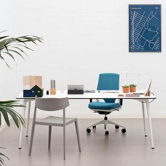 Twist White Desk