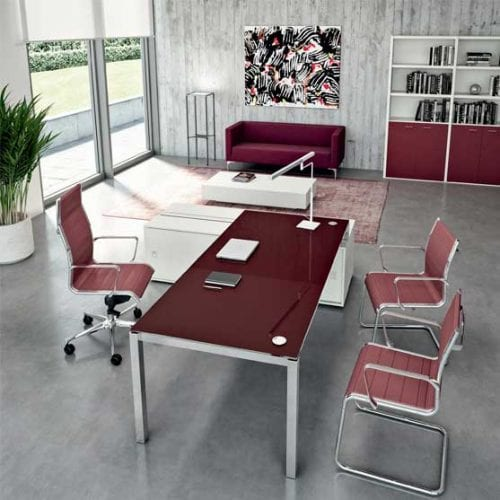 X4 Glass Desks