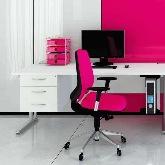 Flexi Straight Desk in white from Elite