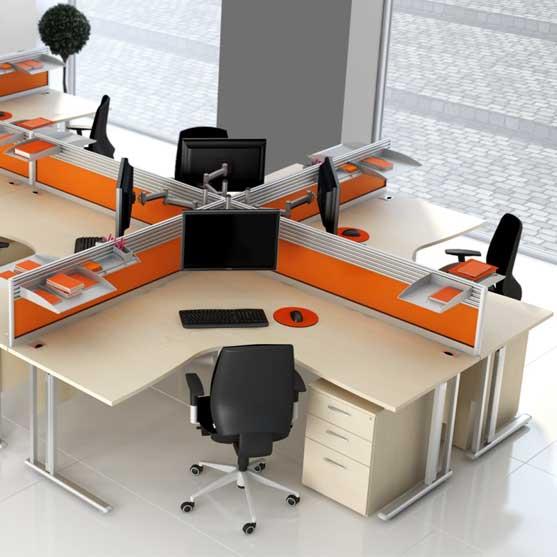 120 Degree Desk from Elite Office Furniture