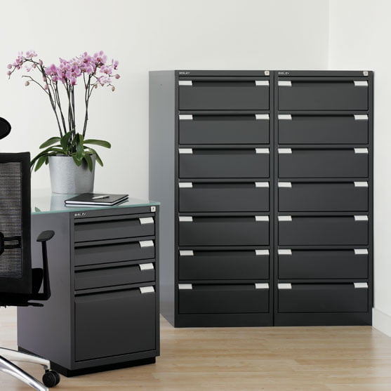 Bisley Card Filing shown in an office