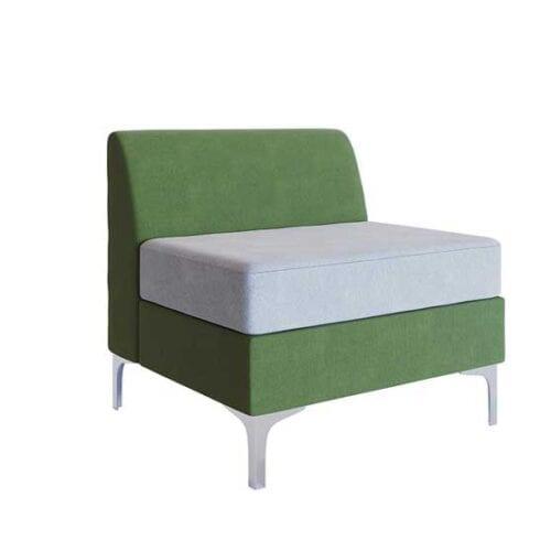Simoom single chair chrome feet air seating