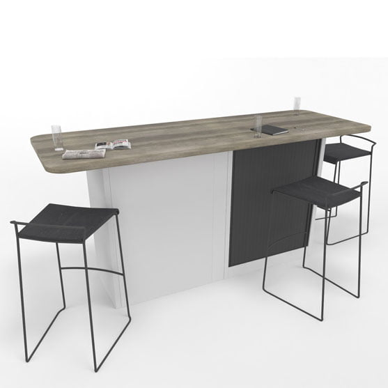 Single Meeting Tambour white and black