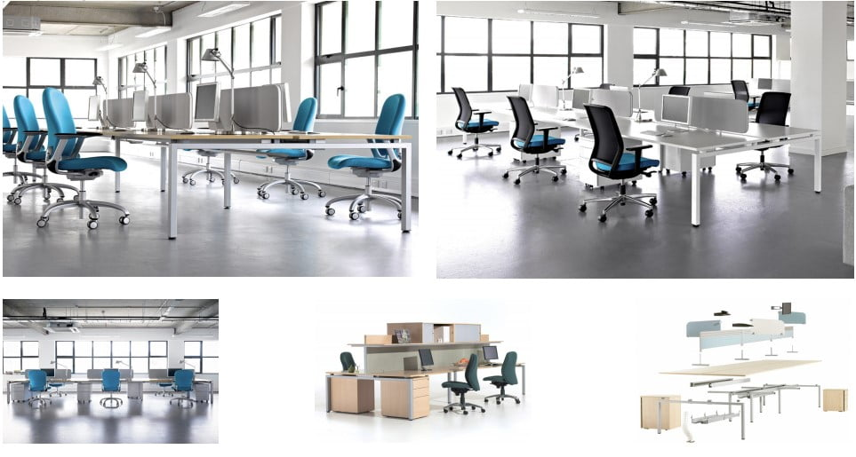 The Oblique bench desk range