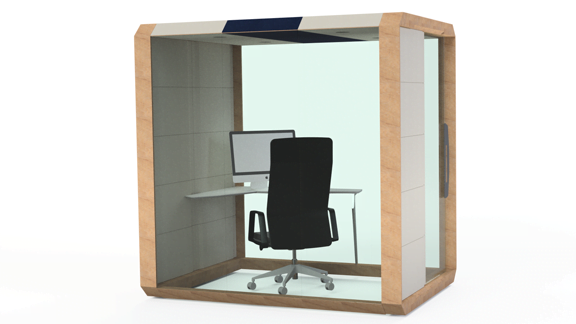 Meting Box enclosed with glass front