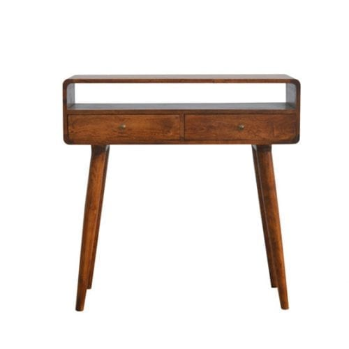 Curved Chesnut Console
