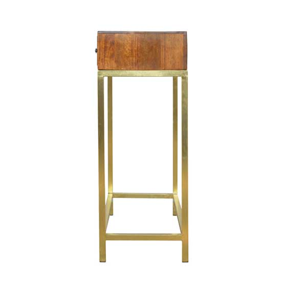 Console Table with Iron Base
