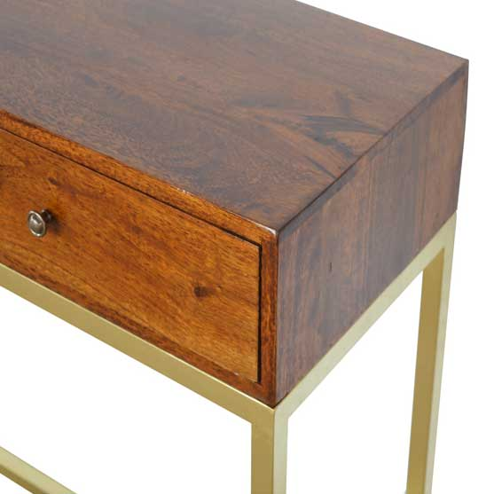Industrial-2-Drawer-Console-Table-with-Iron-Base