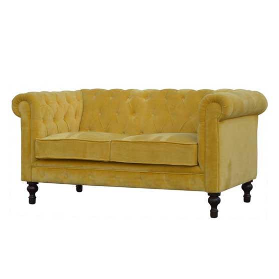 Mustard Velvet Sofa by Artisan