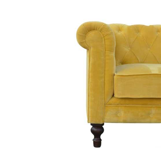 Mustard-Velvet-Chesterfield-Sofa by Artisan