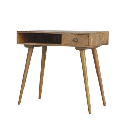 Solid Wood Writing Desk with Open Slot