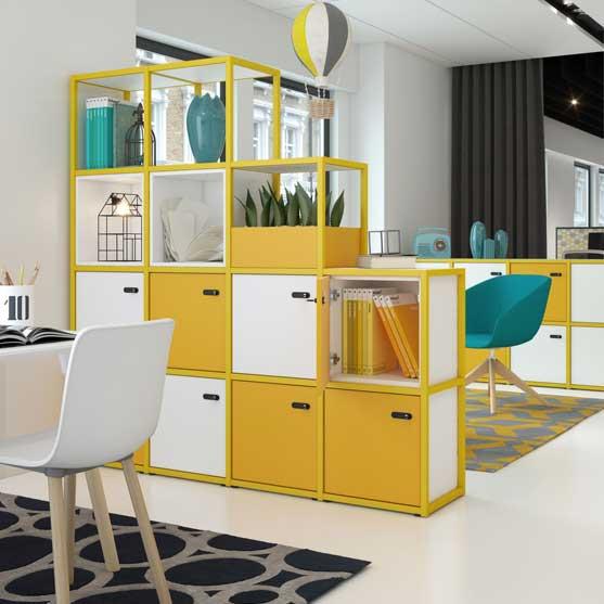 Yellow Modular Storage System