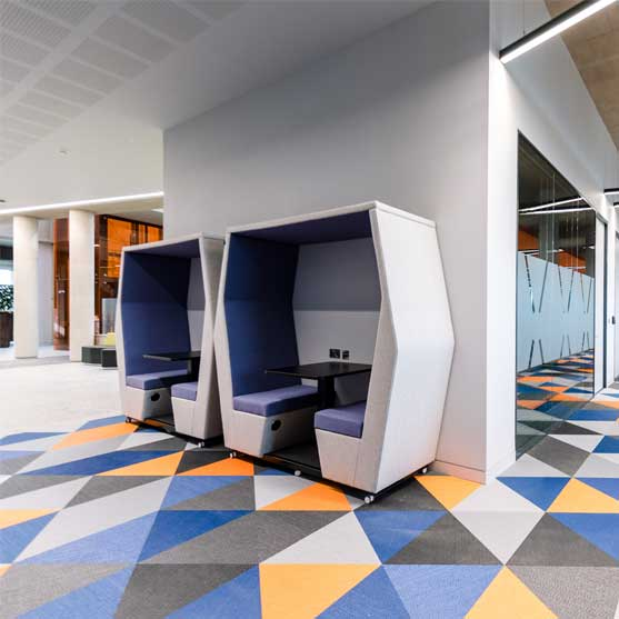 Bill Office Pod Collection grey and blue