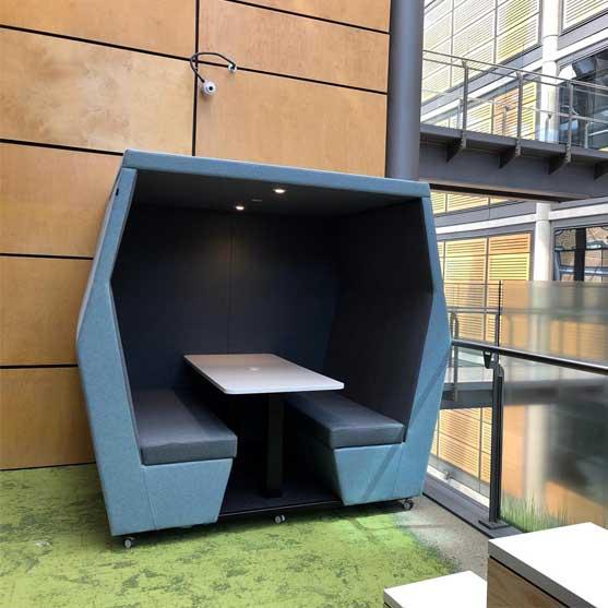 Bill Office Pod outside area