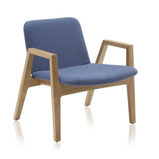 Agent Lounge Chair in Blue