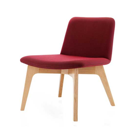 Agent Lounge Chair in Red no arms