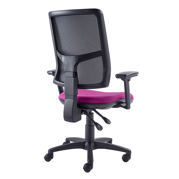 back view of onit mesh chair air seating purple seating
