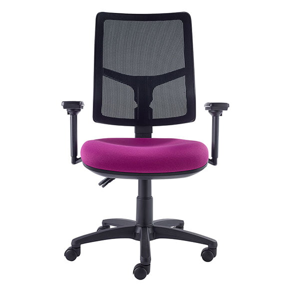 air seating onit mesh chair with purple seat and black mesh back