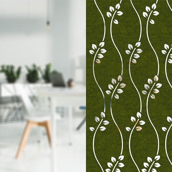Allsfar acoustic panel daisy design green