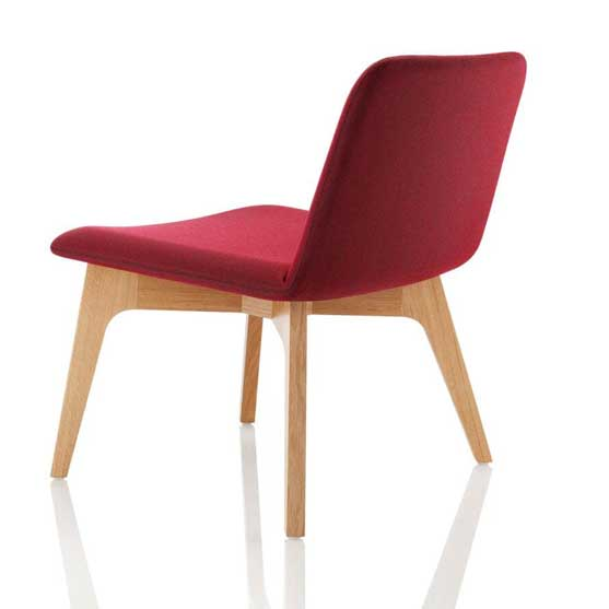 Back of Agent Lounge Chair in Red