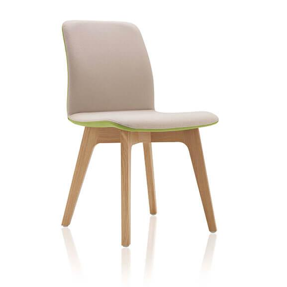 neutral oak 4 leg agent chair boss design