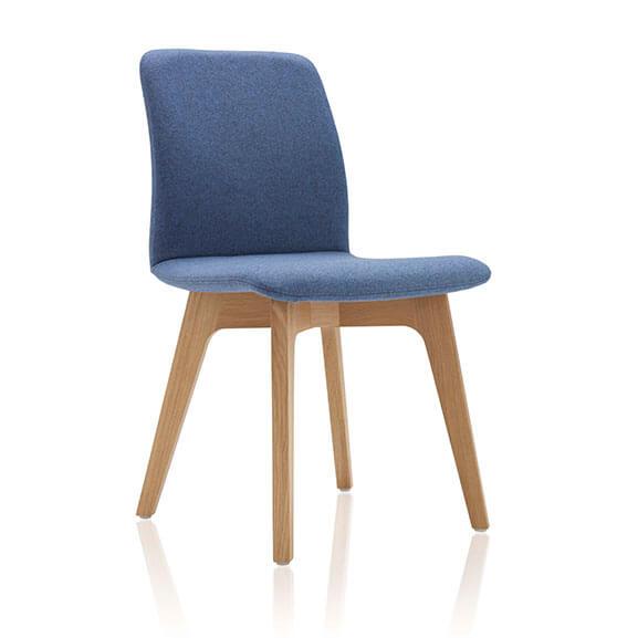 Blue oak 4 leg agent chair boss design