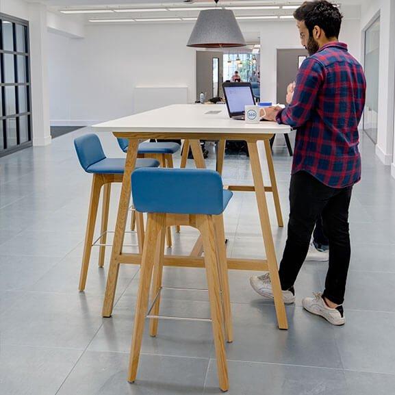 Group blue oak 4 leg stool boss agent range