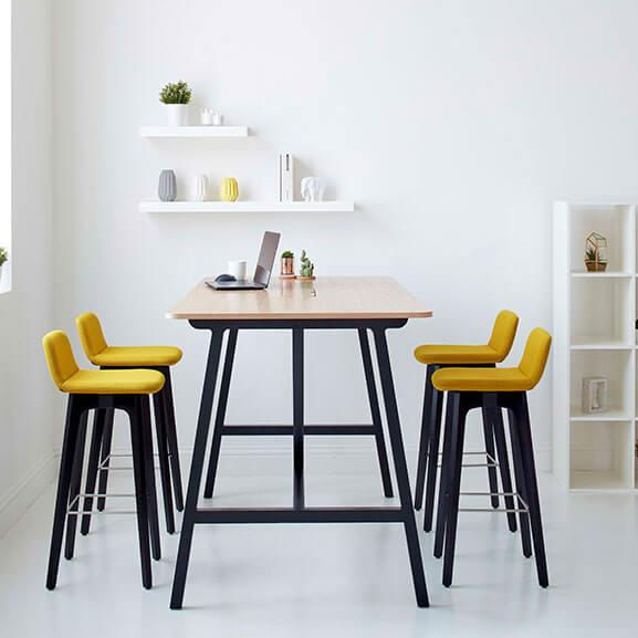 Group Yellow high stool boss design