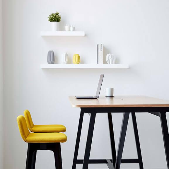 Group high stool yellow boss design