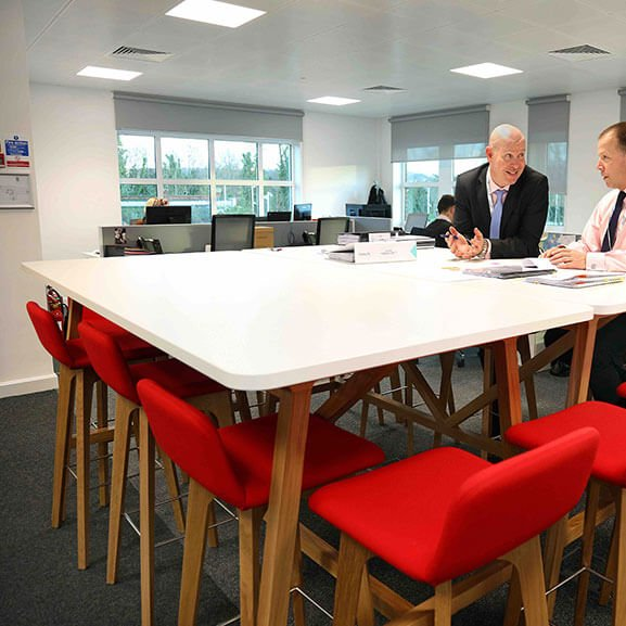 Group red agent stool boss design