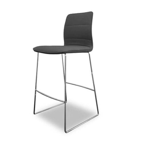 Boss Design Arran Bar Stool skid frame black