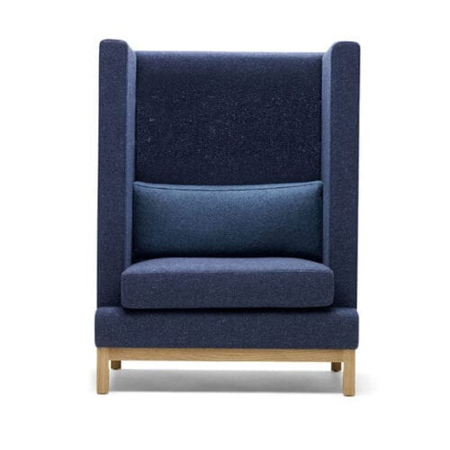Boss Design Arthur high back arm chair bumper cushion oak base