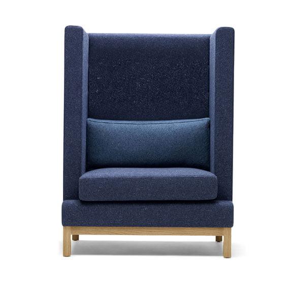 Boss Design Arthur high back arm chair bumper cushion oak base