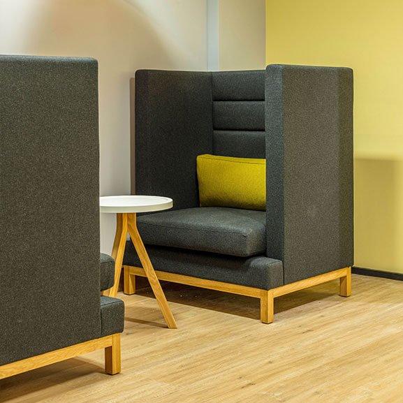 Boss Design Arthur High Back Arm Chair colour painted base
