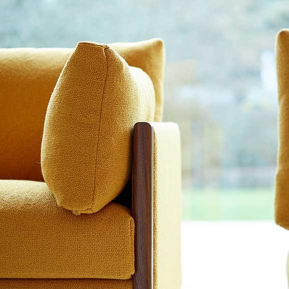 Boss Design Yellow cushion arm chair