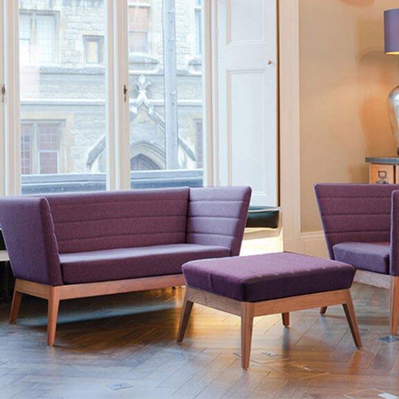 Boss design callisto sofa upholstered oak base