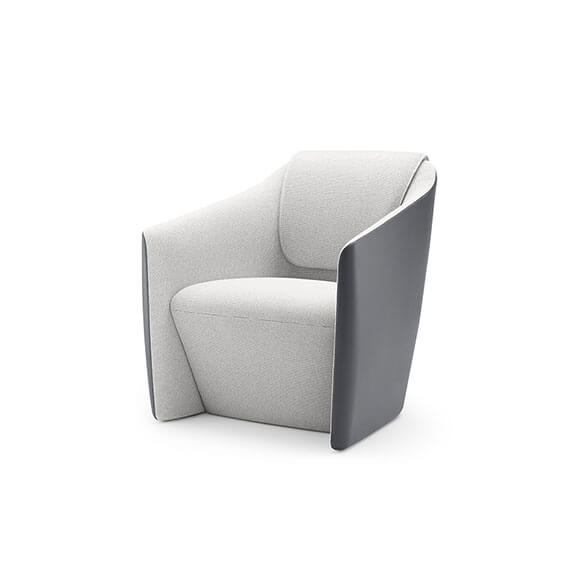 DNA tub chair boss design upholstered 2 tone