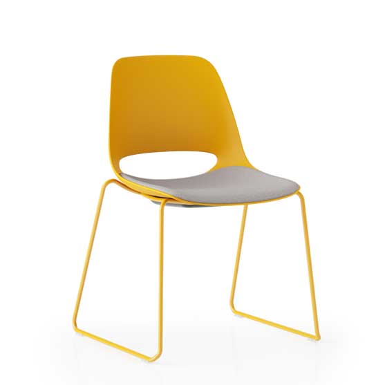 saint chair boss design sled base