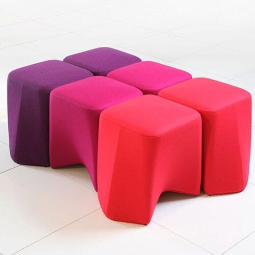 Hoot Low Stool Boss Design Upholstered