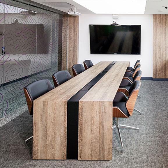 boss design kruze low back dark walnut back leather meeting
