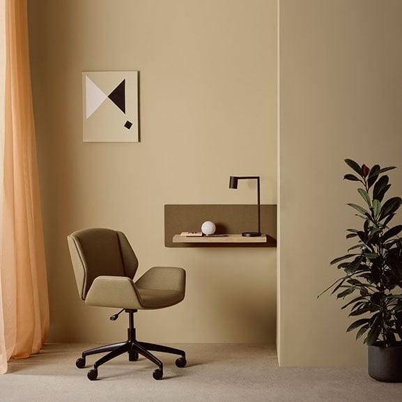 boss design kruze low back 5 star base upholstered