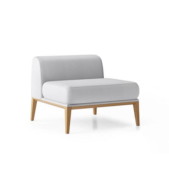 Maysa chair no arms boss design