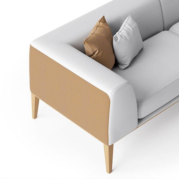 Maysa sofa arm boss design